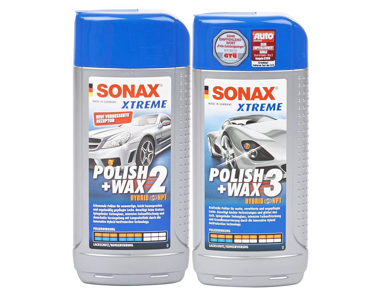 Sonax Xtreme Polish & Wax 2 Hybrid NPT, 500ml + Sonax Xtreme Polish & Wax 3 Hybrid NPT, 500ml, SET