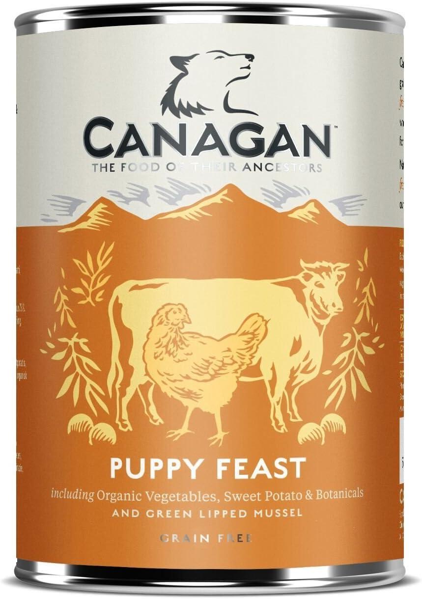 6 x 400 g canagan cachorro comida mojada para perro: Amazon.es ...