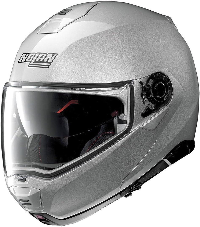Nolan Herren N100 5 Classic N Com Platinum Silver L Helmet L Auto