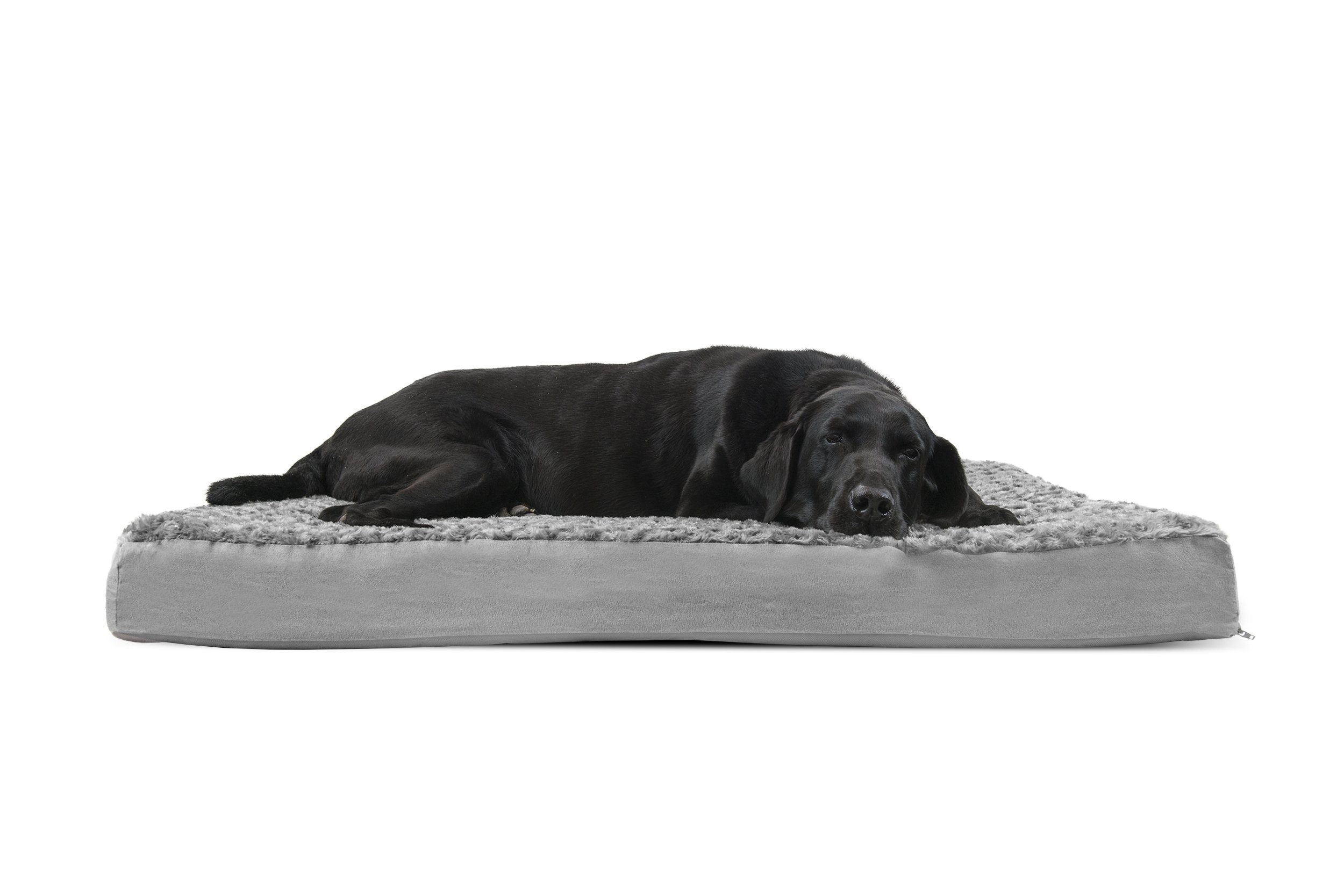 FurHaven Deluxe Orthopedic Pet Bed Mattress for Dogs and Cats, Gray, Jumbo