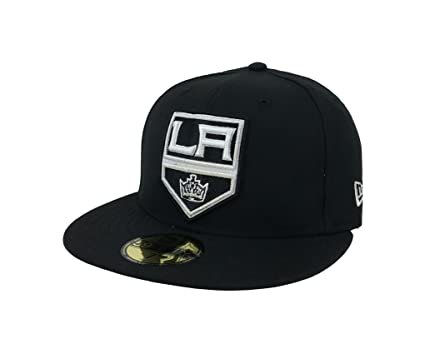 New Era 59Fifty Hat NHL Los Angeles Kings Black Classic Wool Fitted  Headwear Cap (7 823cd9fd0
