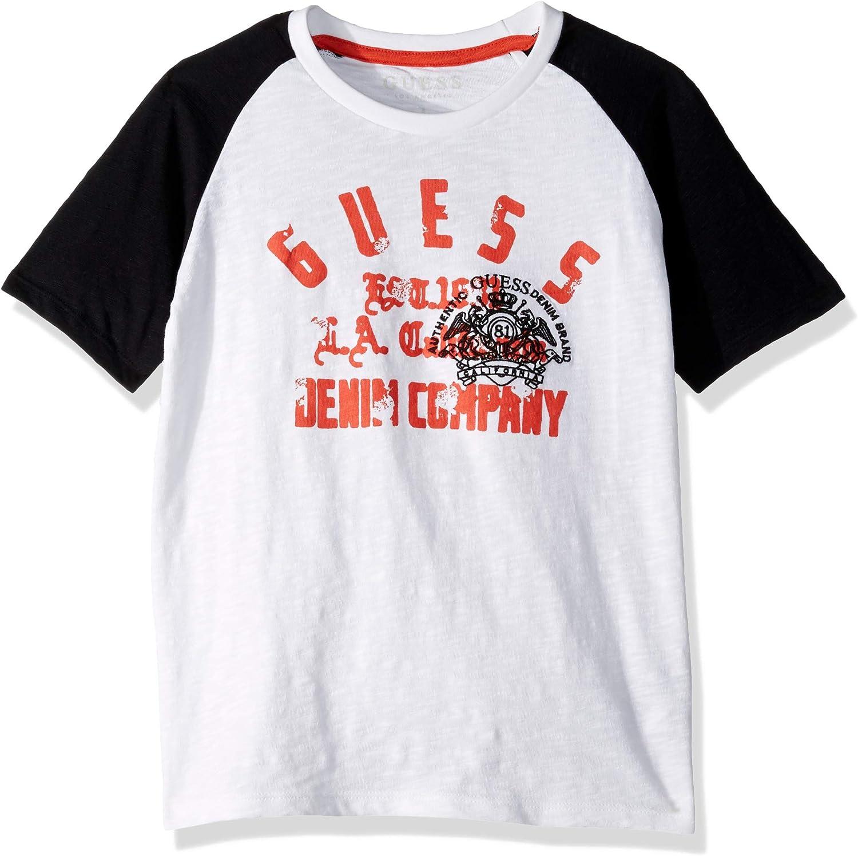 GUESS Boys Big Short Sleeve Denim Company Graphic T-Shirt