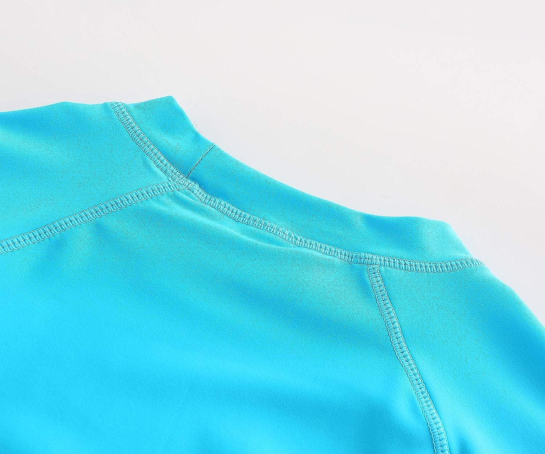 Kids Swim Shirt Boys Long Sleeve Rash Guard Shirts UPF 50+//Sun Protetion Swimsuits