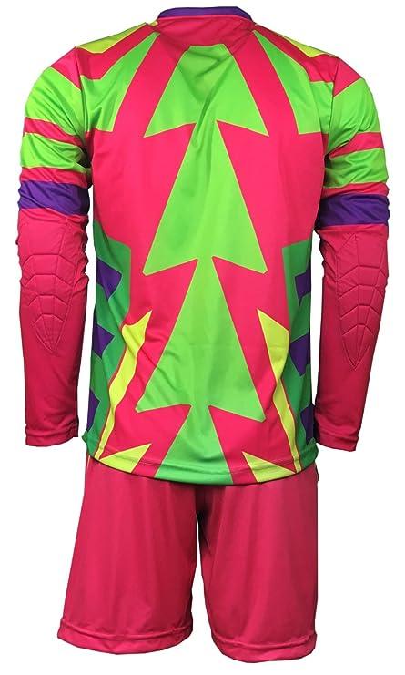 Geko Sport Brody Jorge Campos Portero Set Camiseta y Pantalón, Hombre, Neon: Amazon.es: Deportes y aire libre