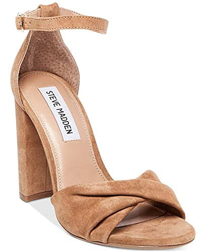 6d090f69b5b Steve Madden Womens Clever Leather Open Toe Casual Ankle Strap Sandals