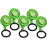 Ability Superstore Retractable Belt Clips for use with Hand Gel Bottles - Pack of 5,  Color may vary