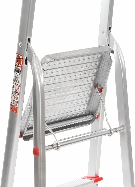 Jumbo Hobby 41JH003 Stufenleiter Aluminium 3 Stufen mit Sicherheitsb/ügel