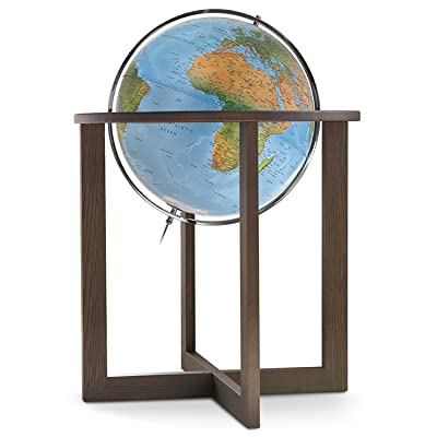 """Waypoint Geographic San Marino 20"""" Globe with Metal Meridian and Beautiful Wood Stand (Political) World, Blue, 25.4 Lb: Toys & Games"""