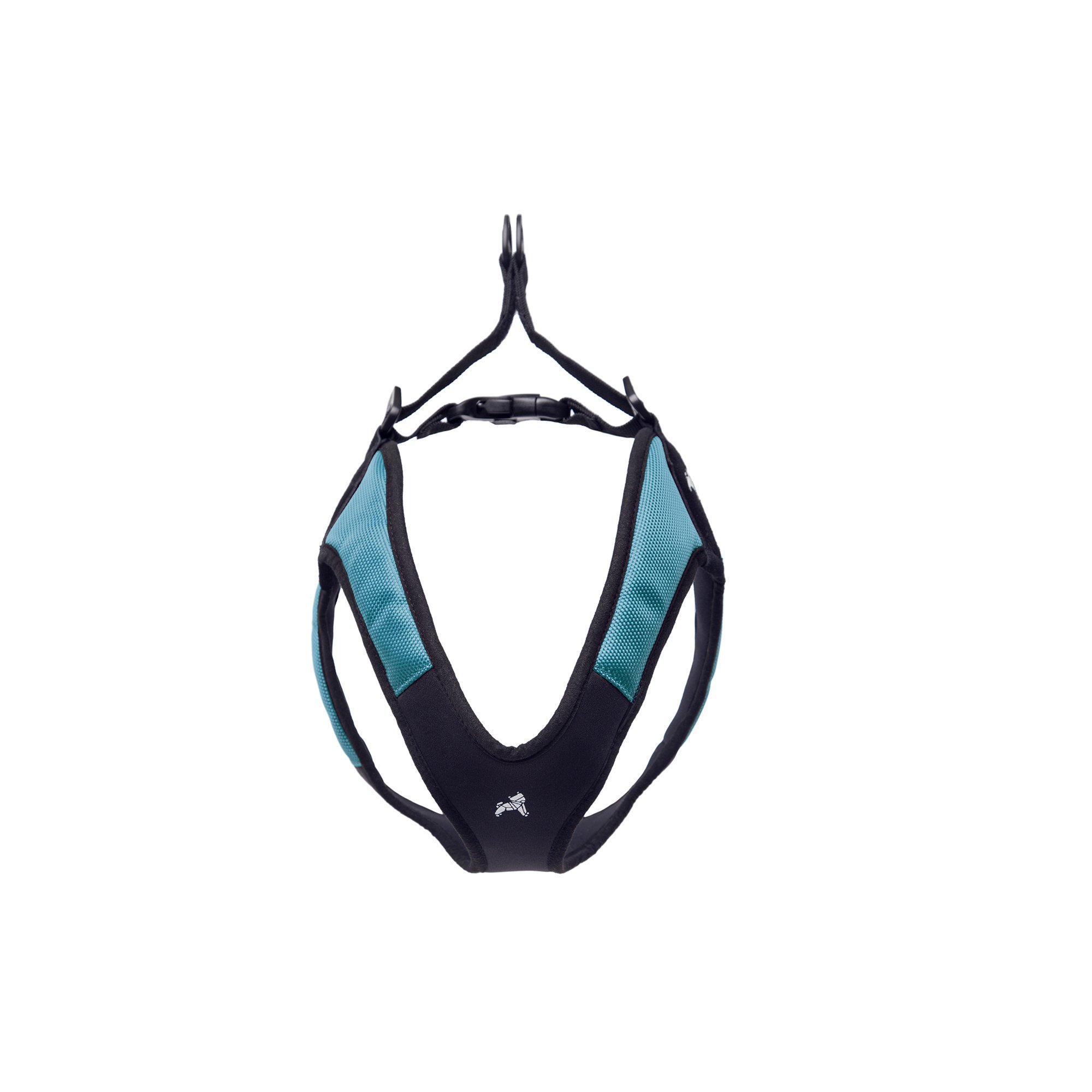 Gooby Escape Free Easy Fit Dog Harness Dogs that Like to Escape Their Harness, Turquoise, Small