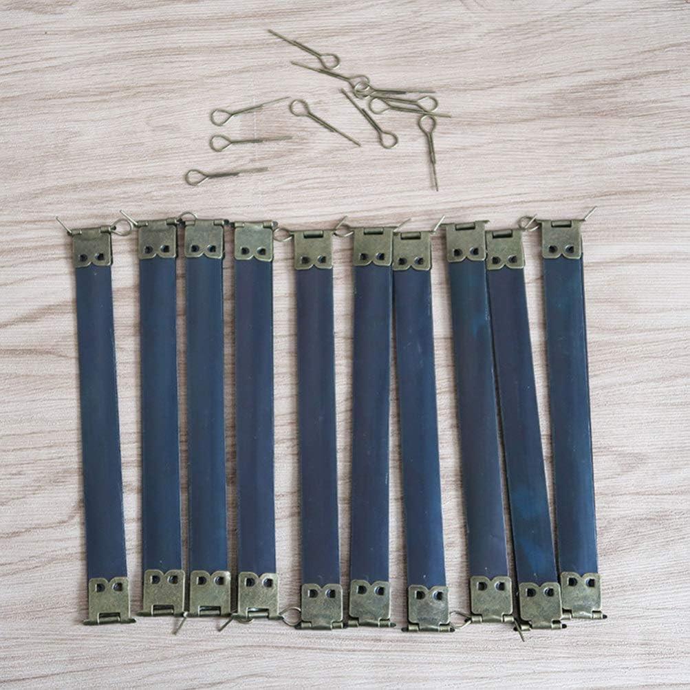 Healifty 10 pcs m/étal Interne Flex Cadres Baiser Fermoir Interne Sac /à Main charni/ères Ressort Clip pour Bricolage Artisanat Sac /à Main Sac /à Coudre Faire 20 cm