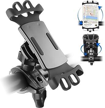 Bokeyu - Soporte para teléfono móvil para bicicleta, antirrobo, giratorio a 360 grados, soporte universal para manillar de bicicleta o moto MTB para smartphone: Amazon.es: Electrónica