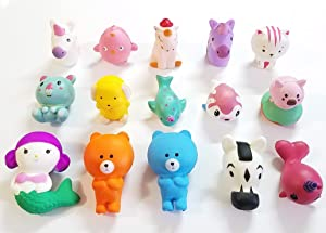 JM Squishies Box of 15 Pieces Large 2.5 - 4.5 Inches Slow Rising Kawaii Cute Scented Squishy Animal, Mermaid, Bear, Horse, Pig, Cat, Dog, Unicorn, Bird, Kola, Sloth, Narwhal Squeeze Toys Series-2