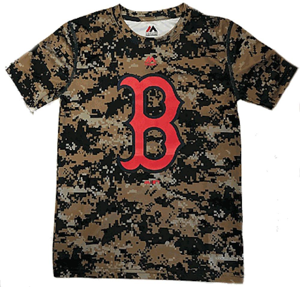 高質 Boston Red Sox Sox B06Y1GT8GT Youthデジタルカモロゴ合成Tシャツby Majestic Medium Red B06Y1GT8GT, TMK:1881caf1 --- a0267596.xsph.ru