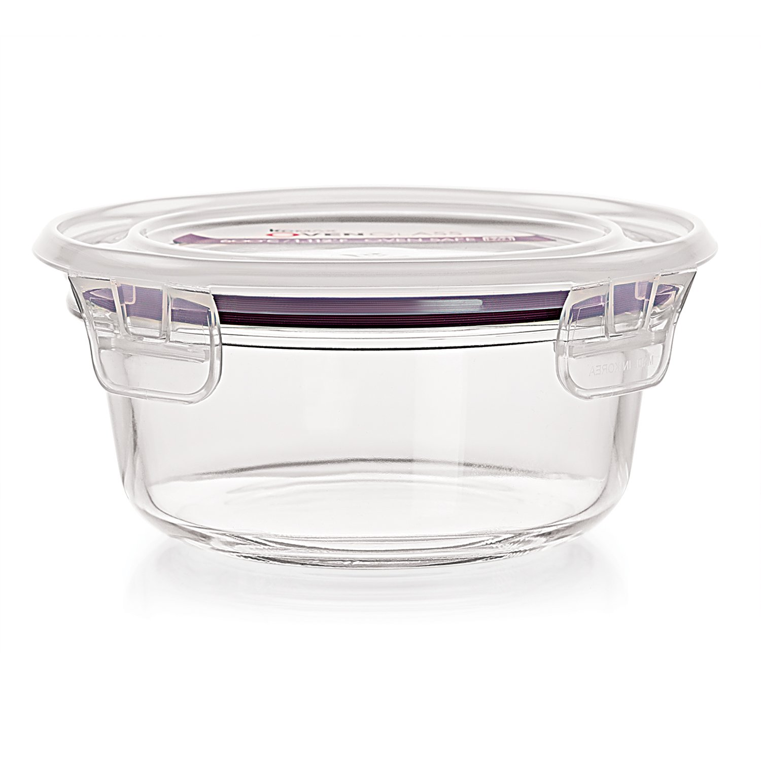 Cello Vero Round Glass Container with Lid, 400ml/6.8cm, Clear
