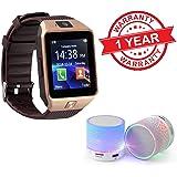 Premium Design Compatible Bluetooth Smart Watch Dz09 Phone (Random Colour)