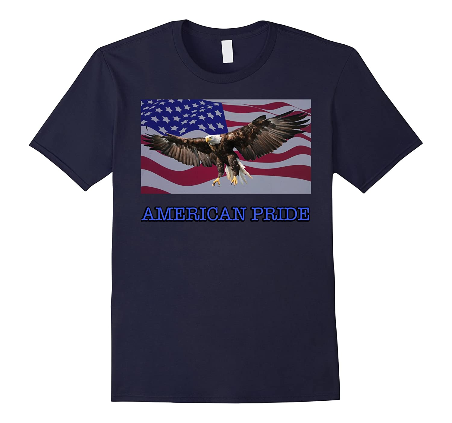American Pride Eagle USA Flag T-Shirt-FL