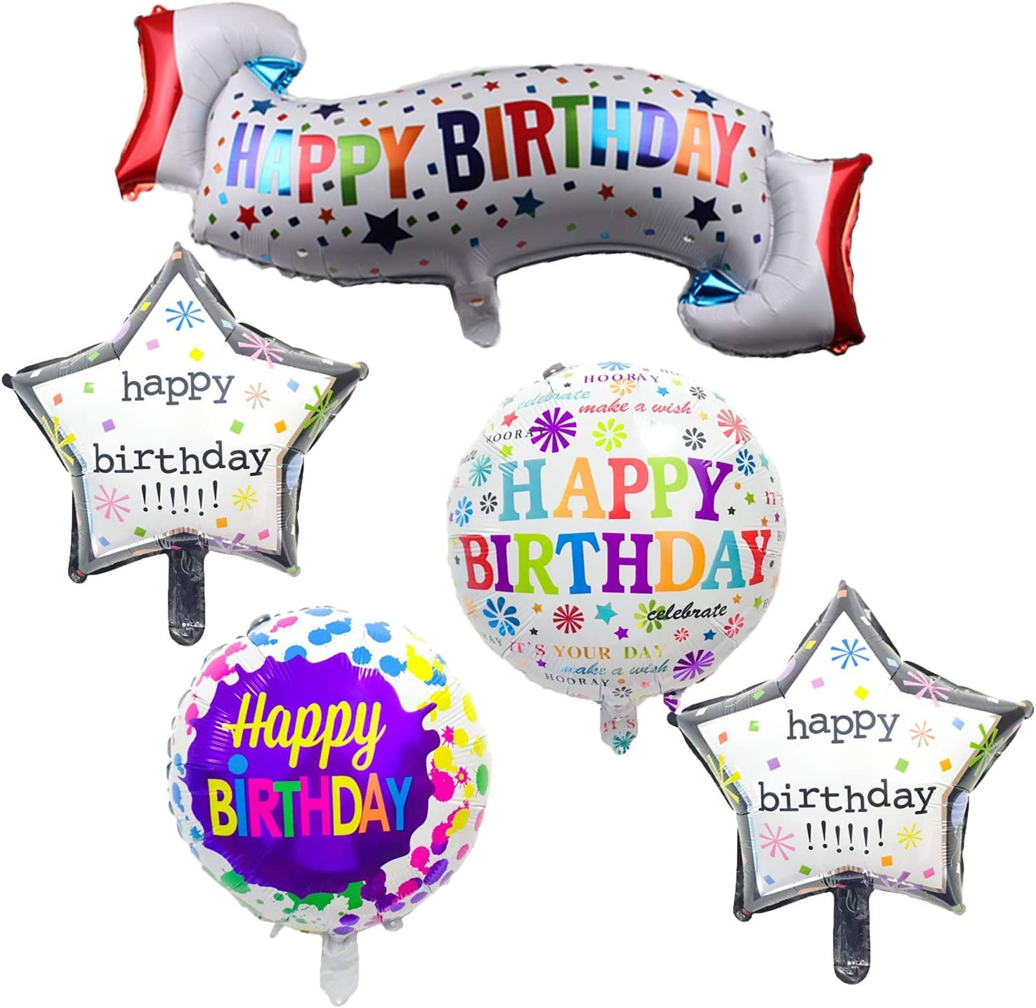 5Pcs//Set Cute Baby Shape Series Foil Balloons Happy Birthday Party Decor Gift US