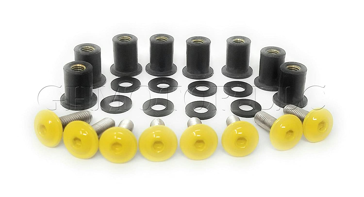 GHMotor 2010 2011 2012 2013 2014 2015 2016 2017 S1000rr Hp4 Oem Style Windscreen Bolts Kit YELLOW