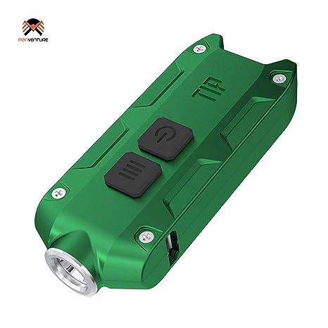 Nitecore® TIP Linterna Llavero LED Recargable USB Ultra Brillante 360 Lúmenes Batería Li-Ion Incluida Muy Ligero y Resistente 23.5 Gramos Corpo ...