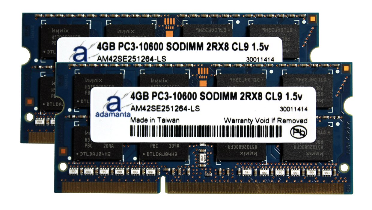 Adamanta 8GB (2x4GB) Apple Memory Upgrade for Mid 2011 iMac 21.5'' and 27'' DDR3 1333Mhz PC3-10600 SODIMM 1Rx8 CL9 1.5v RAM