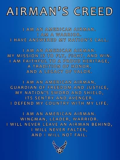 Amazon us air force creed poster usaf creed air force gifts us air force creed poster usaf creed air force gifts usaf 18x24 afc1 altavistaventures Images