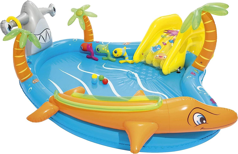 Bestway 53067 - Piscina Hinchable Infantil Vida Marina 280x257x87 cm