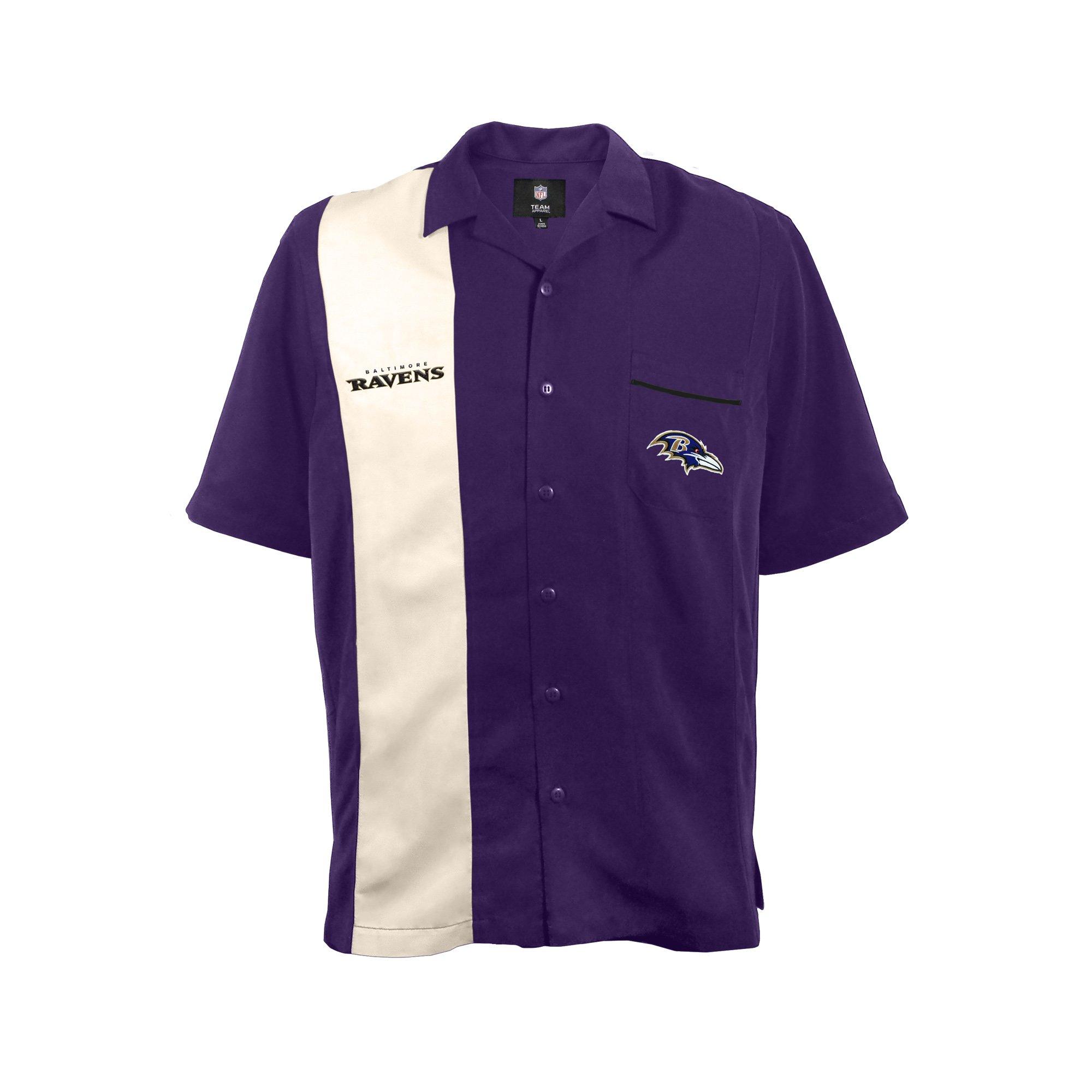NFL Baltimore Ravens Strike Bowling Shirt, XXL by Littlearth