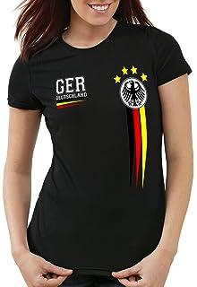 Schwarz Rot Gold WM Team Deutschland 2018 Fußball Weltmeister Sport Fan Shirt