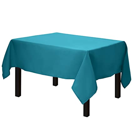 Gee Di Moda Square Tablecloth - 52 x 52 Inch - Caribbean Square Table Cloth for Square or Round Tables in Washable Polyester - Great for Buffet Table, Parties, Holiday Dinner, Wedding & More best square tablecloths