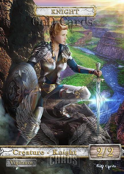 Amazon Com Gnd Cards 3x Knight 2 Custom Altered Tokens Mtg