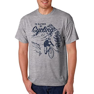 9a1425027952 Jolly Good Tees Rather Be Cycling Mens T-Shirt - Graphic Print Bike Tee   Amazon.co.uk  Clothing