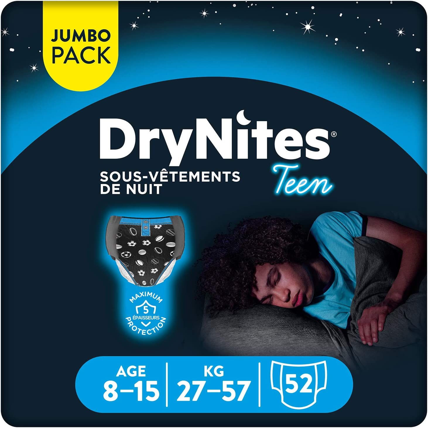DryNites Ropa interior desechable de noche para ni/ñas