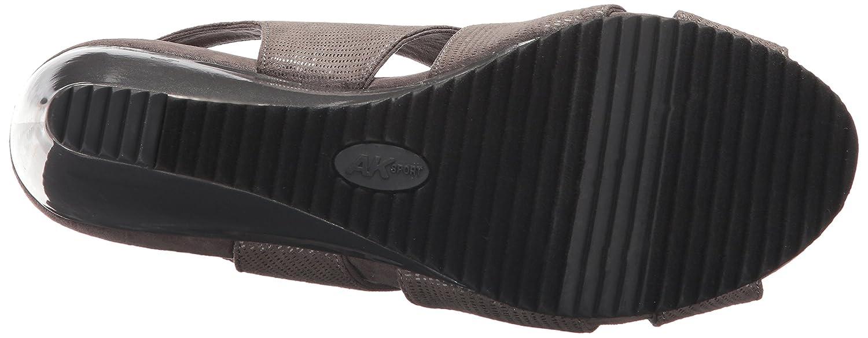 Anne Klein Women's Carolyn Fabric Wedge Sandal B071JMSHPC 11 B(M) US|Pewter