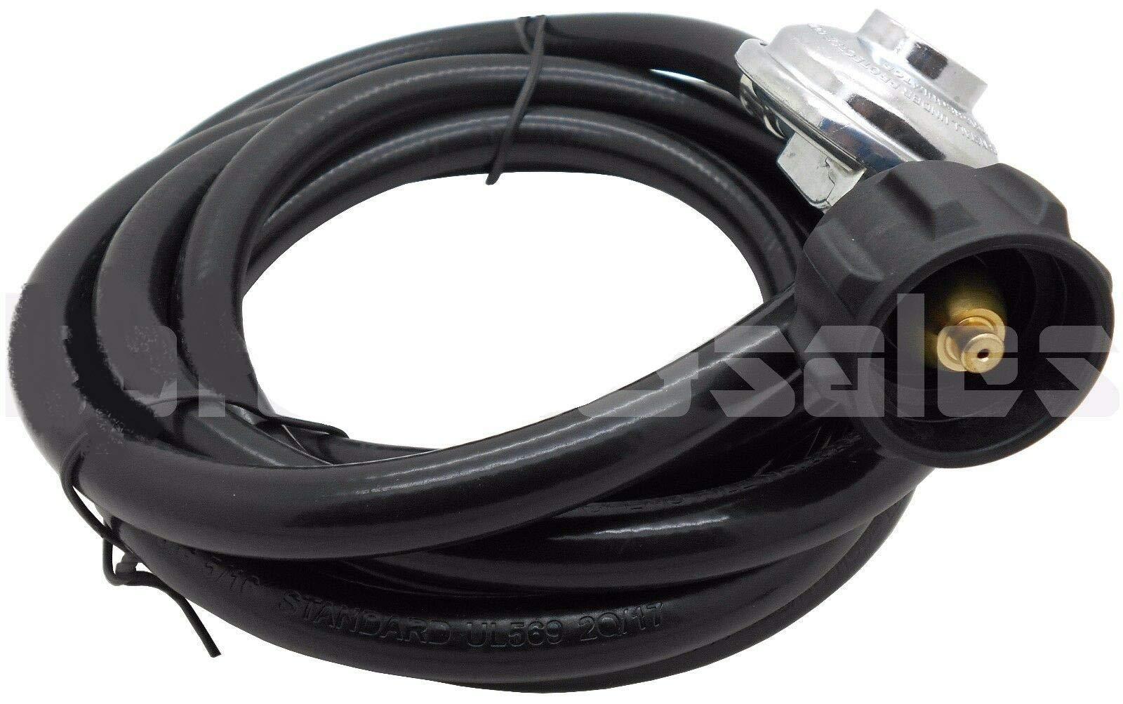 12 Ft Hose Low Pressure Propane Regulator 4 LP BBQ Gas Grill Outdoor Heater