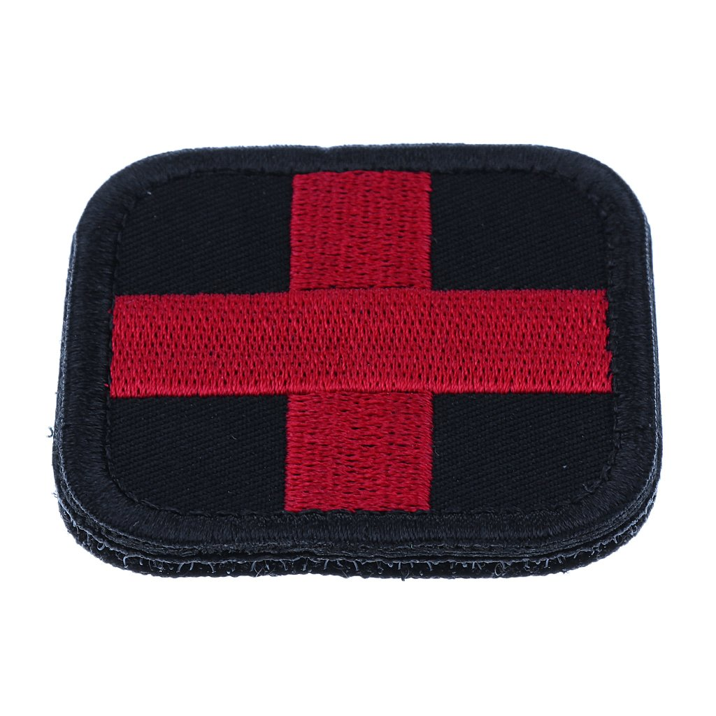 Gazechimp Parche de Cruz Roja Accesorio de Primeros Auxilios para Deportes Aire Libre - Negro