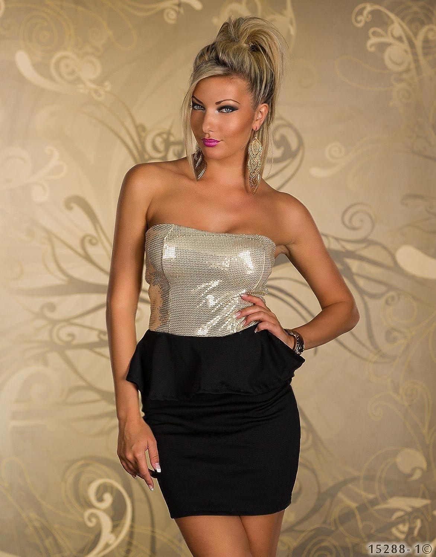 4870 Trägerloses Bandeau-Minikleid Party Kleid Abendkleid verfügbar ...