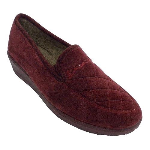 Zapatilla Cerrada Mujer con Pespuntes Aguas Granate Talla 41: Amazon.es: Zapatos y complementos