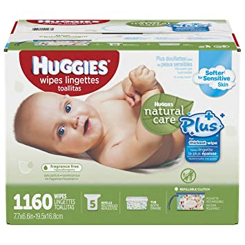 Huggies Natural Care Plus Baby Wipes 1160 Ct