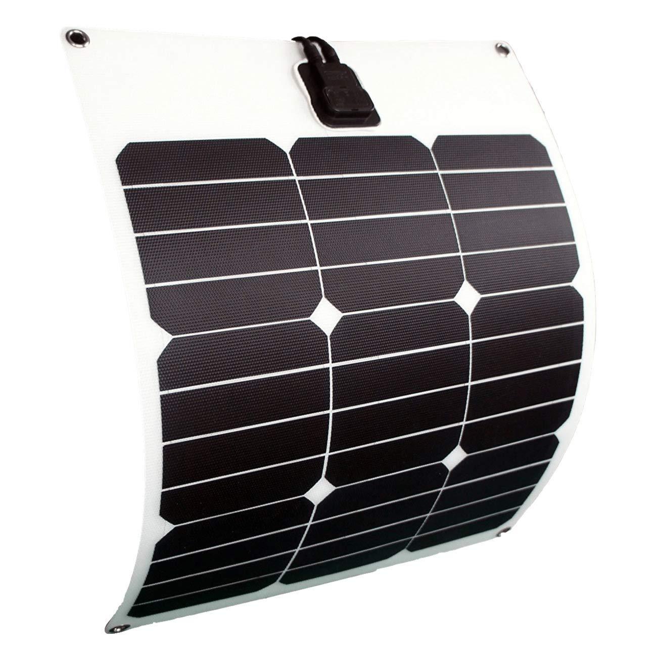 enjoysolar panneau solaire flexible de 30 W et 12 V, idé al pour les bateaux, les caravanes ou les voiliers idéal pour les bateaux SolarV®