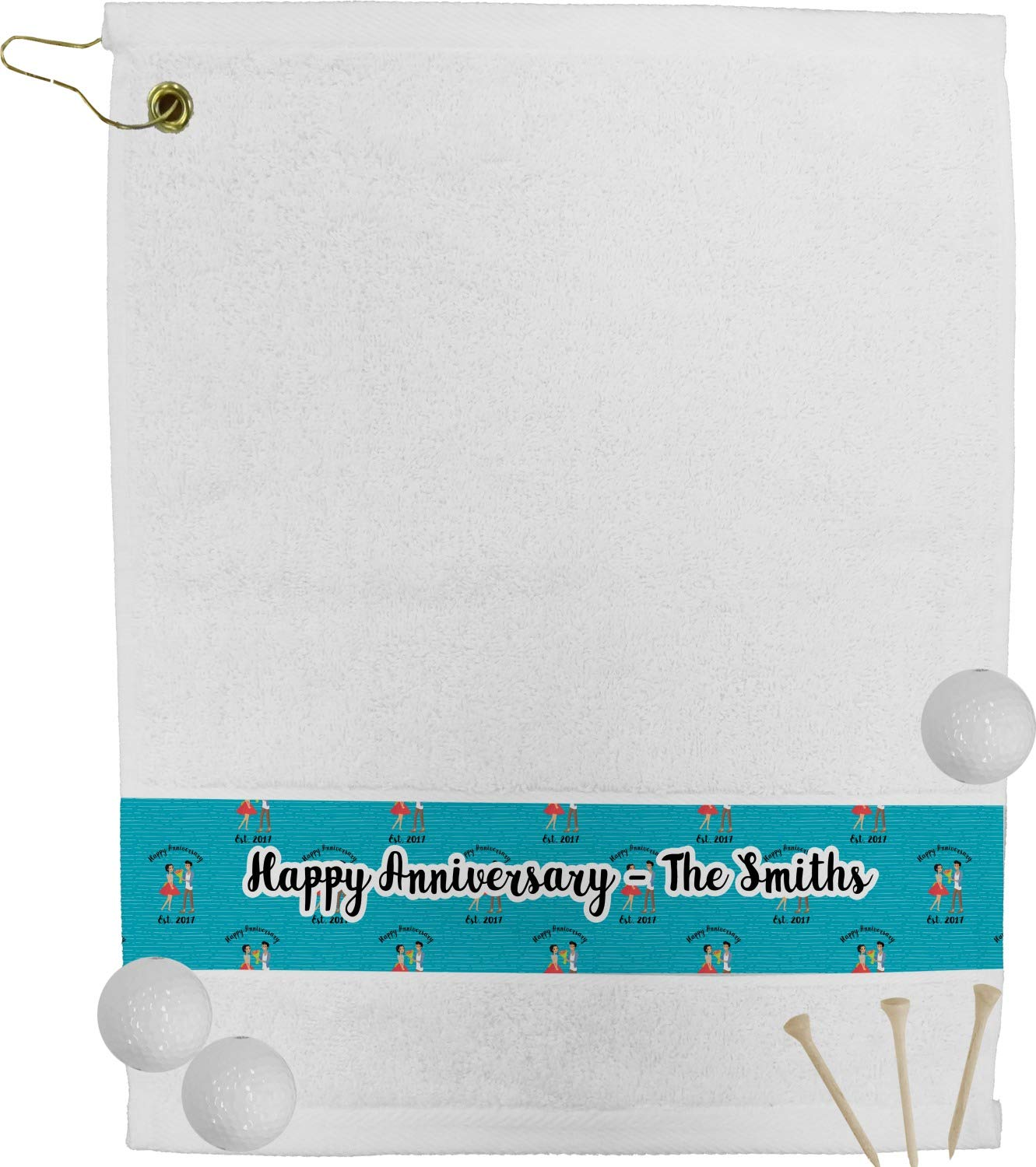 Happy Anniversaryゴルフタオル( Personalized )   B0764P7GJV