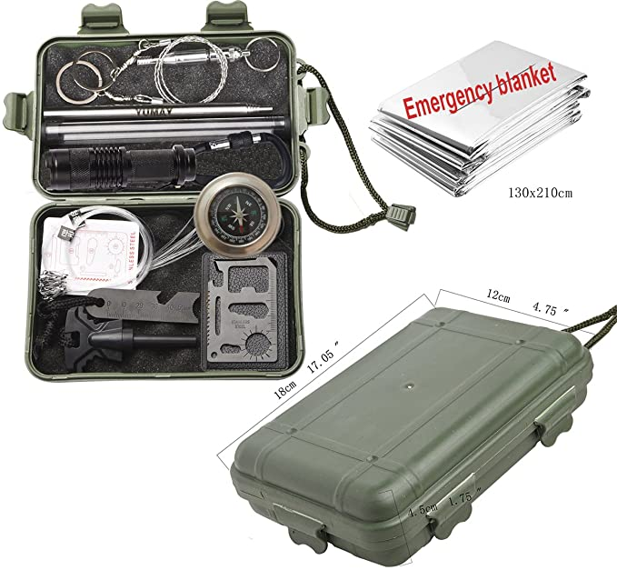 Kits de supervivencia de emergencia herramienta de supervivencia polyvalents Kits de Equipo de emergencia en plein air herramientas de feu de Camp para el ...