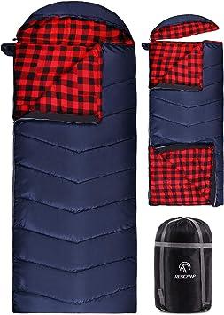 Amazon.com: REDCAMP - Saco de dormir de franela de algodón ...