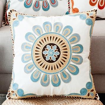 Amazon.com: Cojín de algodón con bordado chino para cojines ...