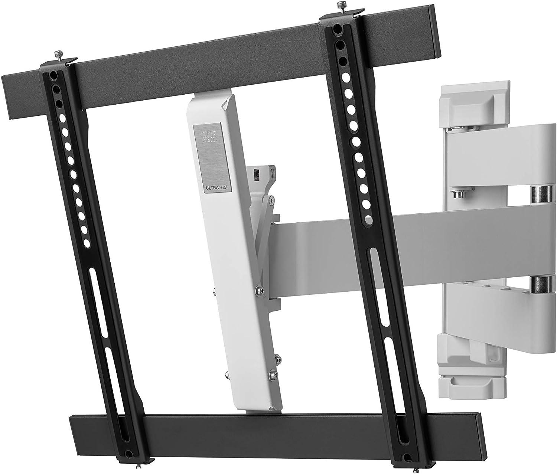 TV Support Mural de One For All - Orientable à 180° et inclinable à 15° - Écrans de 32 à 65 Pouces - Fixation Murale - Tous Types de téléviseurs – VESA 400x400 – WM6452
