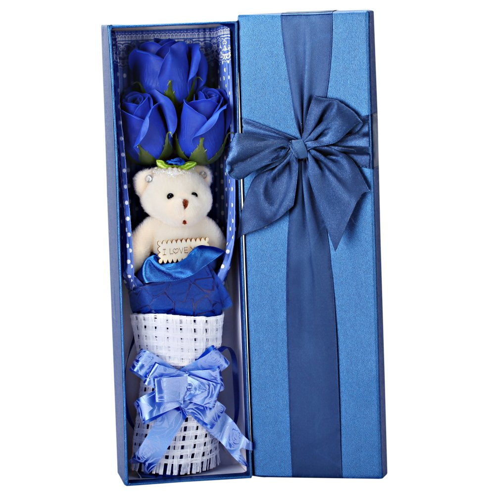 Creative romantic blue flower Bouquet Gift