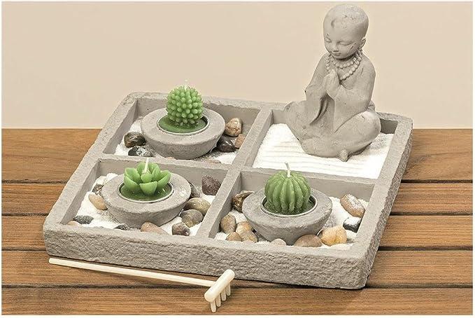 Boltze Gruppe Jardín Zen jimal 8tlg H13 cm Material: hormigón: Amazon.es: Juguetes y juegos