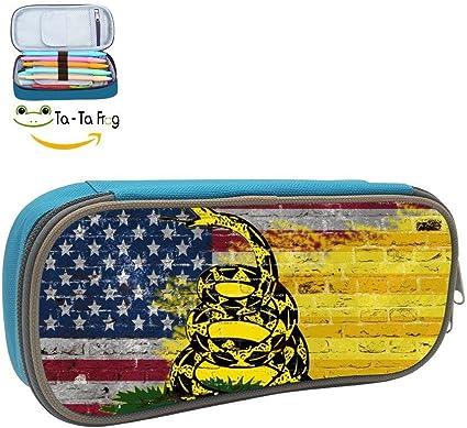 Estuche portatil con bandera americana para niños, bolsa de maquillaje y cosméticos de gran capacidad: Amazon.es: Oficina y papelería