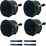 BWSHLF Mountain Bike Inner Tubes (4 Pack), Durable Butyl Rubber MTB Bicycle Replacement with 4 Tire Levers Fit 26x1.75/2.3, 2