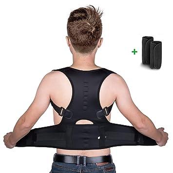 isermeo Correcteur de Posture Dos avec Ceinture lombaire et Ceinture  Dorsale, Ajustable Respirant Correction Posture 71c88d0c711