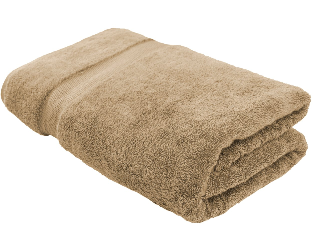 Cotton & Calm Exquisitely Plush and Soft Oversized Bathsheet Towel, Beige - 1 Extra Large Bath Towel (35x70) - Spa Resort and Hotel Quality, Super Absorbent 100% Cotton Luxury Bathroom Towels